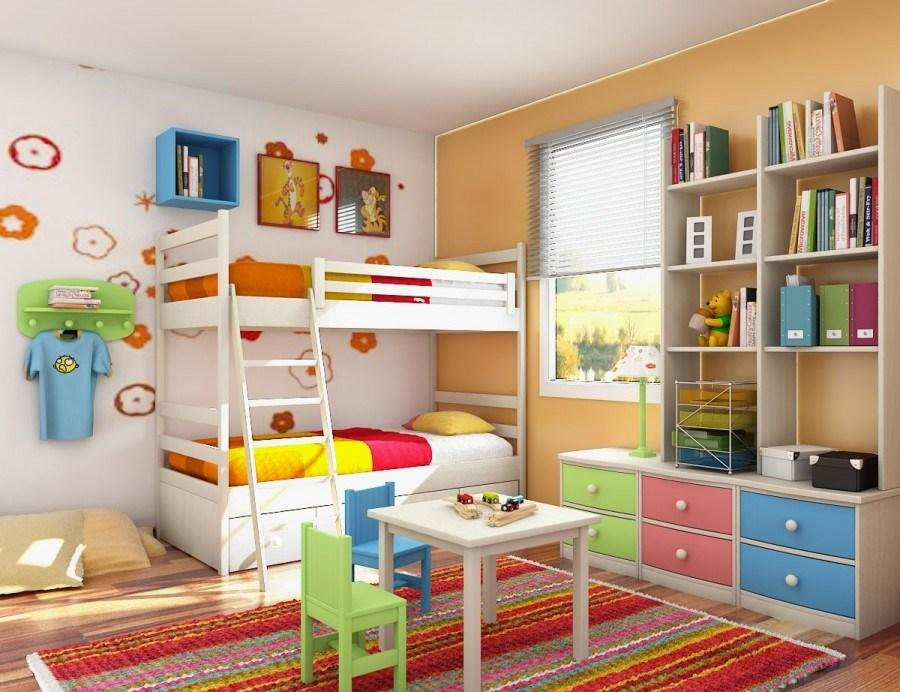 Kamar Tidur Anak Yang Indah Dan Hidup Dengan Unsur Warna Warni
